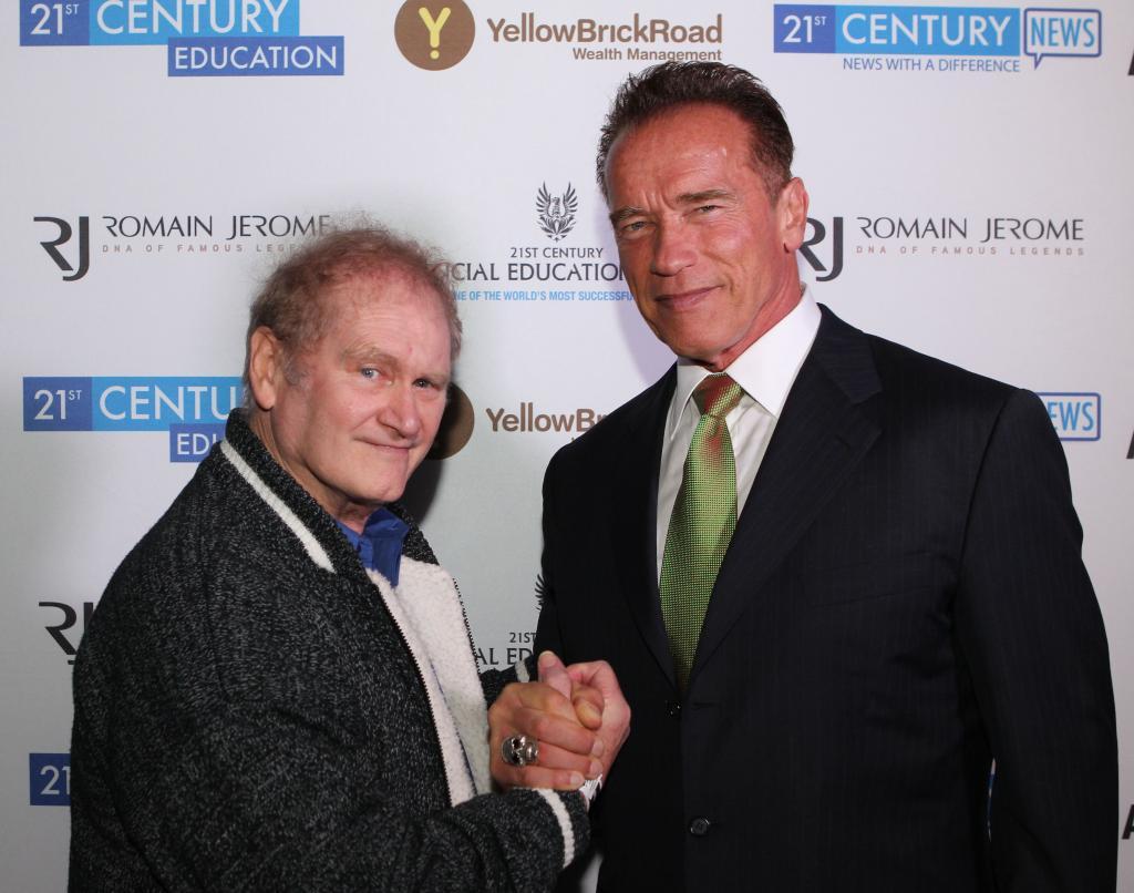 Robert Nailon with Arnold Schwarzenegger 2013