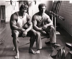 Robert Nailon and Arnold Schwarzenegger